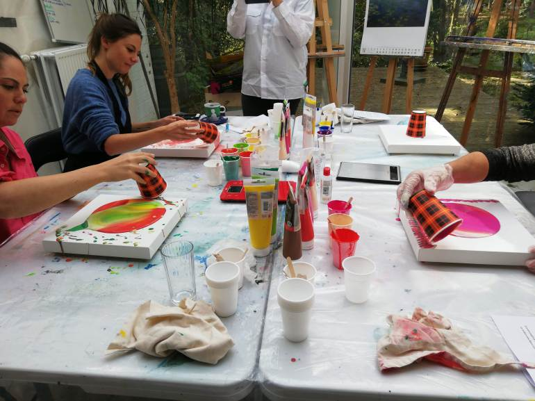 workshops fluid art